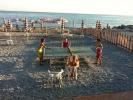 Tafeltennis op het strand in Ventimiglia